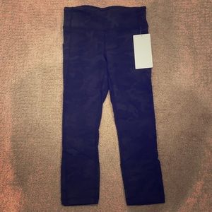NWT Lululemon CAMO Print Pace Rival Crop Pants